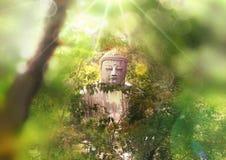 Ο γιγαντιαίος Βούδας του βουδιστικού ναού που βρίσκεται πλησίον από το Τόκιο στην Ιαπωνία Στοκ φωτογραφία με δικαίωμα ελεύθερης χρήσης