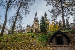 Ο γοτθικός ναός Στοκ φωτογραφίες με δικαίωμα ελεύθερης χρήσης