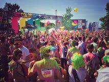 Ο γύρος 2015 τρεξίματος χρώματος Στοκ Εικόνα
