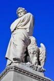 19ο γλυπτό αιώνα του Dante Alighieri στη Φλωρεντία, Ita Στοκ Εικόνα