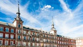 Ο δήμαρχος Plaza στη Μαδρίτη, Ισπανία Στοκ Φωτογραφία