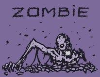 Ο δαίμονας Zombie αναρριχείται από την κόλαση επίσης corel σύρετε το διάνυσμα απεικόνισης απεικόνιση αποθεμάτων