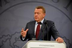 ο δανικός lars lokke υπουργός πρω στοκ φωτογραφία