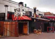 Ο δεινόσαυρος φραγμός-β-Que Στοκ Φωτογραφία