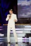 Ο δημοφιλής τραγουδιστής Vitas είναι στο μουσικό πρόγραμμα Στοκ Εικόνες