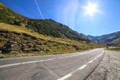 Ο διάσημος δρόμος Transfagarasan στο νομό του Sibiu, Ρουμανία στοκ φωτογραφίες με δικαίωμα ελεύθερης χρήσης