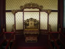 Ο διάσημος ναός Κομφουκίου στο Πεκίνο με τη λεπτομέρεια της πόρτας α στοκ φωτογραφίες