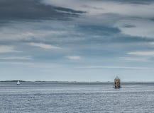 Ο διάσημος σωρός ελαφρύ παλαιό Larick Beaconnear Dundee Σκωτία Tayport Στοκ φωτογραφία με δικαίωμα ελεύθερης χρήσης