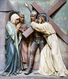 ο διαγώνιος Ιησούς Mary Στοκ Φωτογραφίες