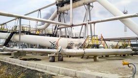 Ο διαιρέτης φάσης τελών είναι σωληνοειδής Εξοπλισμός για το νερό από το πετρέλαιο Πετρελαιοφόρες περιοχές εξοπλισμού της δυτικής  στοκ εικόνες