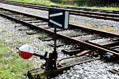 Ο διακόπτης σιδηροδρόμου στοκ φωτογραφία με δικαίωμα ελεύθερης χρήσης