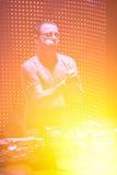 Ο ΔΙΚΑΣΤΉΣ JULES του DJ αποδίδει στο αστικό κύμα fistival στις 16 Απριλίου 2011 στο Μινσκ, Λευκορωσία Στοκ εικόνα με δικαίωμα ελεύθερης χρήσης