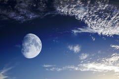 Ο δορυφόρος του πλανήτη μας Στοκ Φωτογραφίες