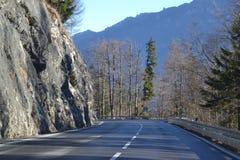 Ο δρόμος βουνών στις Άλπεις, Γερμανία Στοκ Εικόνες