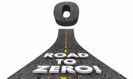 Ο δρόμος σε μηά μείωση αποβάλλει το χαμηλότερο κίνδυνο διανυσματική απεικόνιση