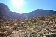 Ο δρόμος στο ιερό βουνό Sinai στοκ εικόνες