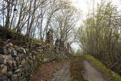 Ο δρόμος στο παλαιό πάρκο Στοκ Εικόνες
