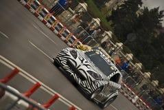 Ο δρόμος της Renault εμφανίζει αυτοκίνητο του Βουκουρεστι'ου toons Στοκ εικόνες με δικαίωμα ελεύθερης χρήσης