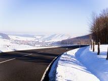 Ο δρόμος το χειμώνα Στοκ Εικόνα
