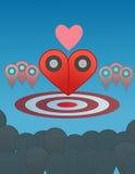 Ο δείκτης δύο συνδυάζει στην απεικόνιση καρδιών Στοκ Εικόνες
