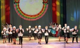 Ο εβραϊκός χορός παιδιών χορεύει Στοκ εικόνες με δικαίωμα ελεύθερης χρήσης