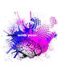 ο εγκέφαλος ΙΙ ψηφίζει τ&o Στοκ Εικόνα