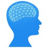 Ο εγκέφαλος σκέφτεται ότι παρουσιάζει τη μελέτη και κεφάλι εκτίμησης διανυσματική απεικόνιση