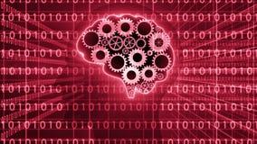 Ο εγκέφαλος συνδέει work_and τους αριθμούς data_4K ελεύθερη απεικόνιση δικαιώματος