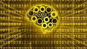 Ο εγκέφαλος συνδέει work_and τους αριθμούς data_4K απεικόνιση αποθεμάτων