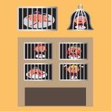 Ο εγκέφαλος φυλακίζει Στοκ εικόνα με δικαίωμα ελεύθερης χρήσης