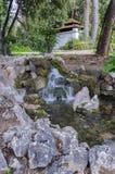 Ο εθνικός κήπος είναι ένα δημόσιο πάρκο στο κέντρο της πόλης της Αθήνας στοκ εικόνες