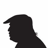 45ο εικονίδιο σκιαγραφιών πορτρέτου του Ντόναλντ Τραμπ Προέδρων των Η. Π. Α. Στοκ Φωτογραφίες