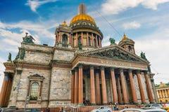 Ο εικονικός καθεδρικός ναός Αγίου Isaac στη Αγία Πετρούπολη, Ρωσία Στοκ Εικόνες