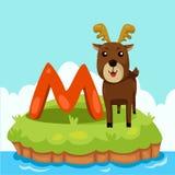 Ο εικονογράφος Letter'M είναι για Moose Στοκ Εικόνα