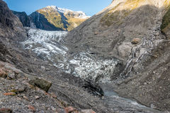 Ο λειώνοντας Franz Joseph Glacier Στοκ Φωτογραφίες
