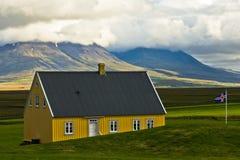 19ο εκατονταετές ξύλινο σπίτι στο αγρόκτημα Glaumbaer Στοκ Φωτογραφία