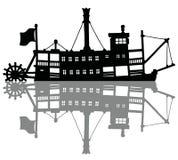Ο εκλεκτής ποιότητας ατμός riverboat διανυσματική απεικόνιση