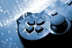 Ο ελεγκτής παιχνιδιών τόνισε το μπλε Στοκ φωτογραφίες με δικαίωμα ελεύθερης χρήσης