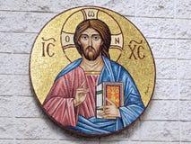Ο ελληνικός ορθόδοξος Ιησούς Χριστός Στοκ Φωτογραφία