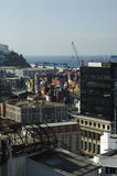 Ο εμπορικός λιμένας Valparaiso στοκ εικόνα