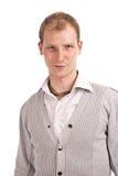 ο ενήλικος γκρίζος τύπο&sig Στοκ Εικόνα