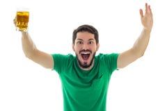 Ο ενήλικος είναι ευτυχής και συγκινημένος για το κόμμα Στοκ εικόνα με δικαίωμα ελεύθερης χρήσης