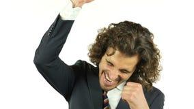 Ο ενθουσιώδης επιχειρηματίας παίρνει συγκινημένος και κερδίζει τελικά απόθεμα βίντεο