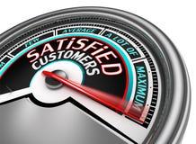 Ο εννοιολογικός μετρητής ικανοποιημένων πελατών δείχνει το μέγιστο ελεύθερη απεικόνιση δικαιώματος