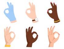 Ο εντάξει επιχειρησιακός άνθρωπος σημάτων συμφωνίας okey χειρονομίας επιτυχίας χεριών ναι συμφωνεί με το καλύτερο διάνυσμα έγκρισ διανυσματική απεικόνιση