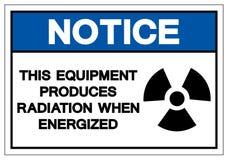 Ο εξοπλισμός ειδοποίησης παράγει την ακτινοβολία όταν απομονώνει το ε απεικόνιση αποθεμάτων