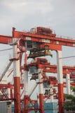 Ο εξοπλισμός μηχανημάτων λιμένων μέσα ο λιμένας shekou, Στοκ Εικόνα