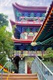 Ο εξωτερικός τοίχος του ναού Po Lin στο νησί Lantau Στοκ Εικόνες