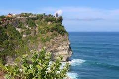 Ο εξωτικός ναός στον απότομο βράχο, Pura Luhur Uluwatu Ποιο stunn στοκ φωτογραφία