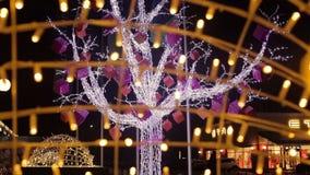 Ο εορτασμός ανάβει το δέντρο απόθεμα βίντεο